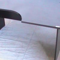 Mahogany curved desk