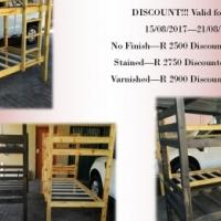 Bunkerbeds R1500
