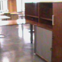Rose wood desk plus credenza/cabinet and pedestal