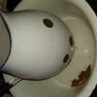 Antique Pitcher and Wash Basin for sale