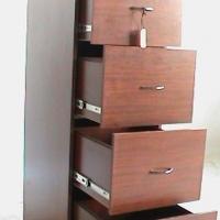 Mahogany 4 dr filing cabinet