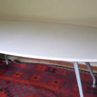 Stunning White Contemporary Dining Table For Sale