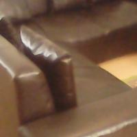Urgent! dark brown leather L shape