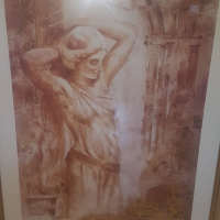 Various framed Tuscan painting