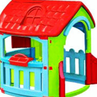 Pal Play Workshop Playhouse. This fun, indoor/outdoor playhouse is centred around a workbench