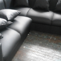free delivery new leather couch