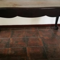 6-seater Ball & Claw Dining Room Table - no chairs.