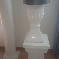 Stone lamp with light