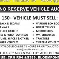 150+ NO RESERVE VEHICLE AUCTION