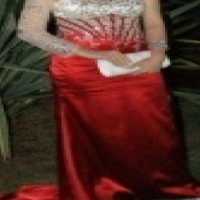 For Sale Red Satin Dress