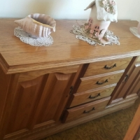 Oak Dining room set with side board