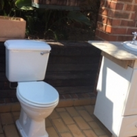 Complete Betta Toilet, Bidet, Basin Complete with Taps and Cabinet with Cupboards and Drawers