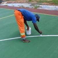 Resurfacing of tennis courts /netball courts0715073069 repairs, court renovation and repairs