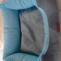 Nice big blue dog bed for sale.