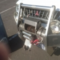 Stainless Bull Bar with 9000lb Come up winch