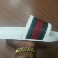 Gucci White Slip-on