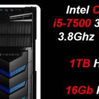 Custom Built Budget Gaming i5-7500, 16Gb RAM (GTX 1050 Ti 4GB) PC