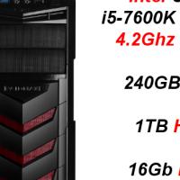 Custom Built Budget Gaming (GTX 1060 6GB) i5-7600K, 240GB SSD + 1TB HDD, 16Gb RAM PC