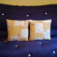 Futon double bed size Navy x cream