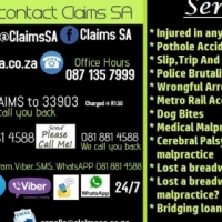 Claims SA works with a variety of different claims all across the country