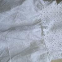 Baby girl dress. White cotton