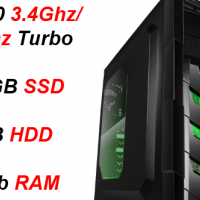 Custom Built Budget Gaming i5-7500, 120GB SSD + 1TB HDD, 16Gb RAM (GTX 1050 Ti 4GB) PC