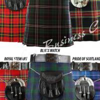 8 yard Scottish Kilt for men