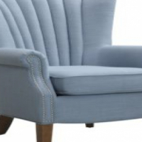 Waved Wingback Chair