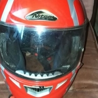 Red large helmet