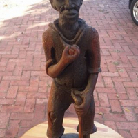 African Statue - male,