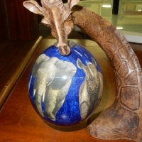 Giraffe Ostrich Egg Ornament