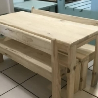 Kiddies Pine Table & Bench's