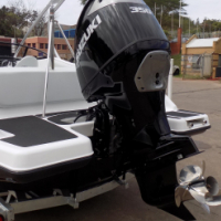 classic 230 wet deck on trailer 350 hp suzuki 4 stroke