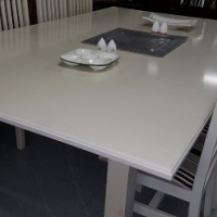 Large White Patio Table