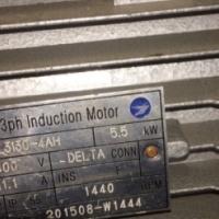 5.5kw 3 phase motor urgent