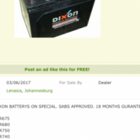 Car batterys on special