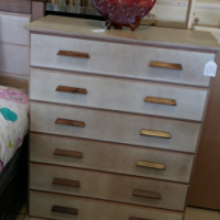 Zia 6 Drawer Chest of Drawers - Sandy Stone