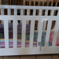 Pine Sleigh Cot - White - 15% OFF!!!!!