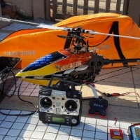 Trex  550 E helicopter