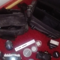 Film Cameras, lenses, filters and camera bags for sale - all in excellent condition