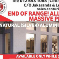 ALL NATURAL ALUMINIUM WINDOWS (END OF RANGE) NEEDS TO GO!!!!!!