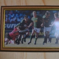 Faan Rautenbach Photograph singed and framed