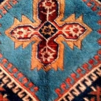 Variety of stunning Persian Khamseh Hamadan Rugs for sale.