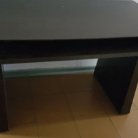 Dark wooden office desk