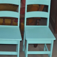 Painted or plain kitchen chairs made brandnew can be left plain or painted