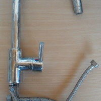 Tap (Sink Mixer) Upright for Kitchen/Bathroom with side lever Sanpride Aspire. With 2 soft pipes.