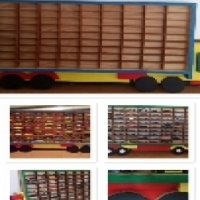 storage wooden truck for hot wheels cars