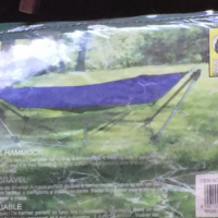 Foldable hammock x 2 (blue and green) for sale