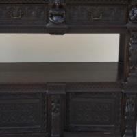 Black carved Antique cupboard