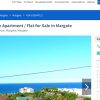 Margate flat sea view